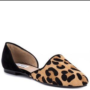 Steve Madden Vamp Calf Hair Leopard D'Orsay Flat